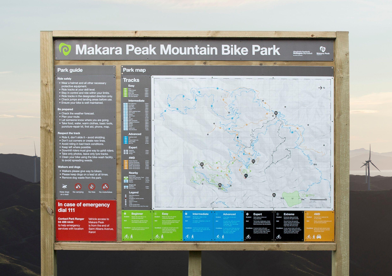 Bike parking Makara Peak is a world class