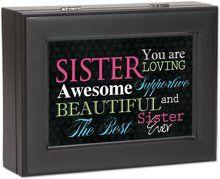 cottage garden sister matte black music box jewelry box plays rh pinterest com