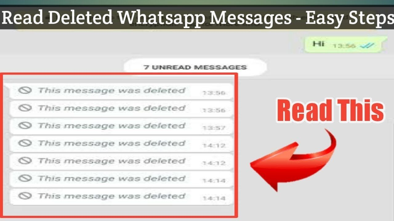 Read Deleted Whatsapp Messages With Easy Method   Read This