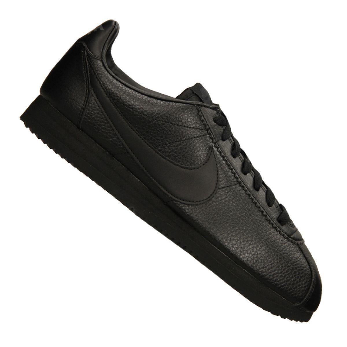 Buty Nike Classic Leather M 749571 002 Czarne Nike Classic Nike Classic Cortez Leather Black Shoes
