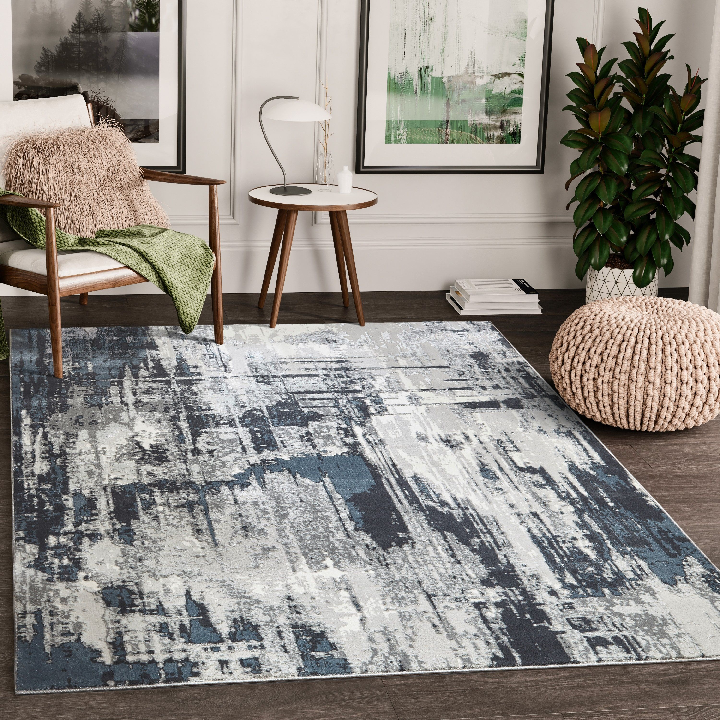 Abstract Grey Area Rug N A 5 X 8 Gray Area Rugs Rustic