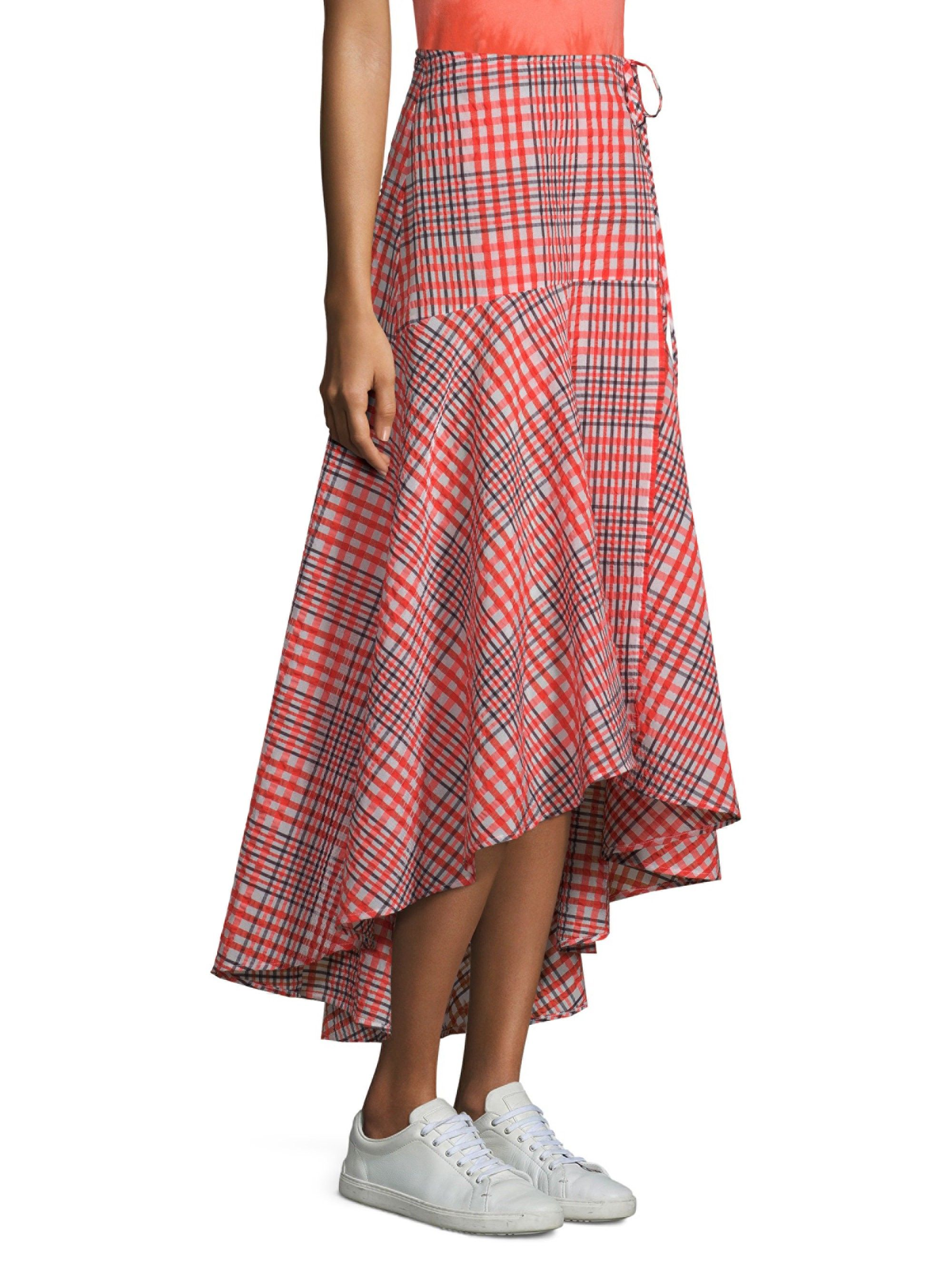 Ganni Charron Wrap Skirt - Big Apple 38 (6) 91216880cec