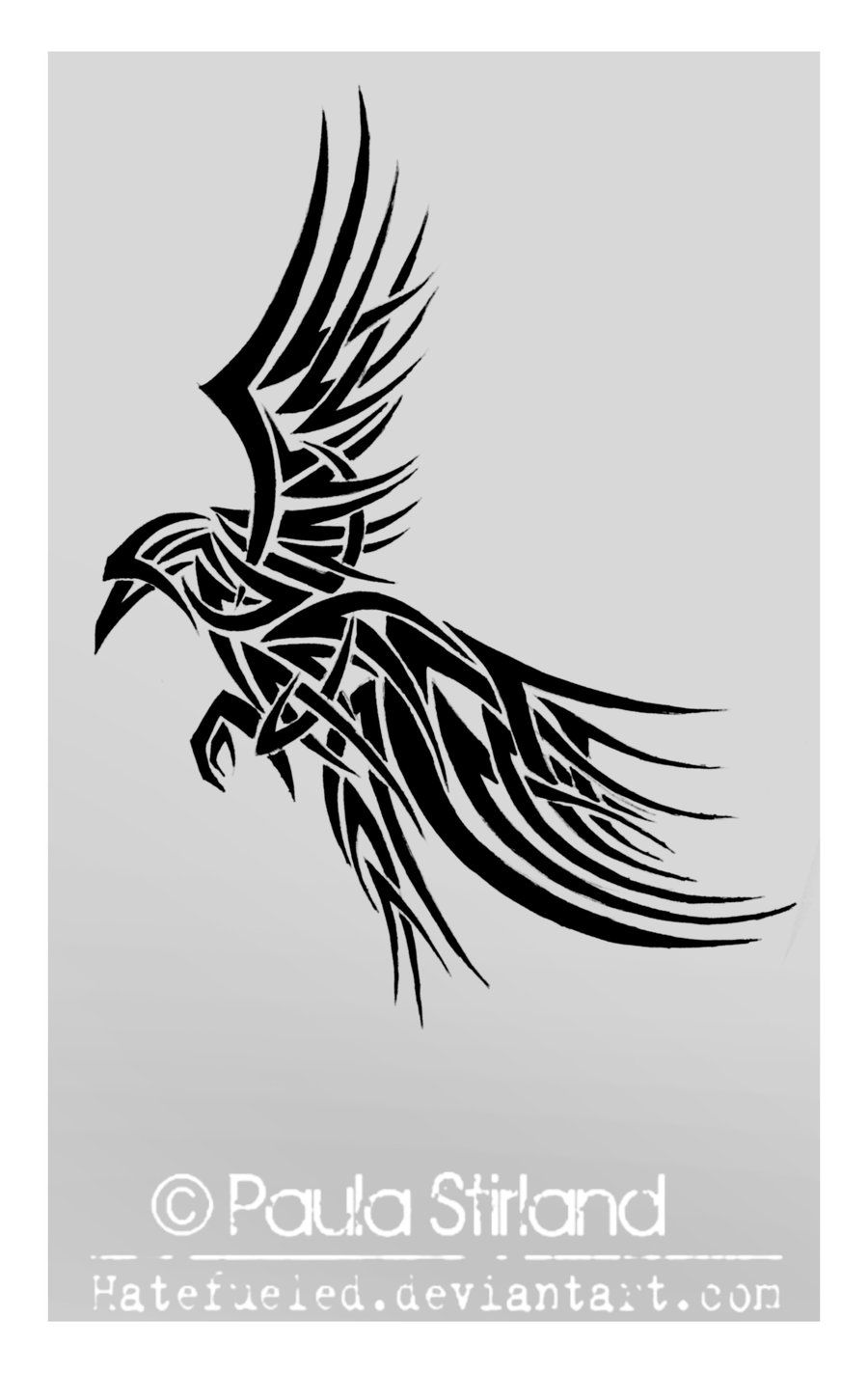 e424ff4ce Tribal Raven by hatefueled.deviantart.com. Would like this as a tattoo but  with some modifications