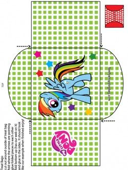 free printable my little pony candy bag 2 favor box printables rh pinterest com