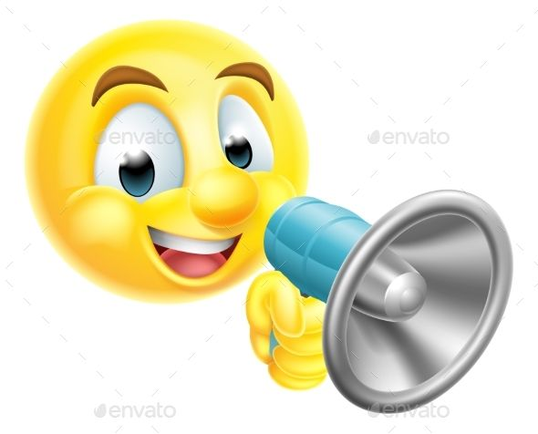 Emoticon Emoji Holding Mega Phone Emoticon Plumbing Logo Design Cute Designs