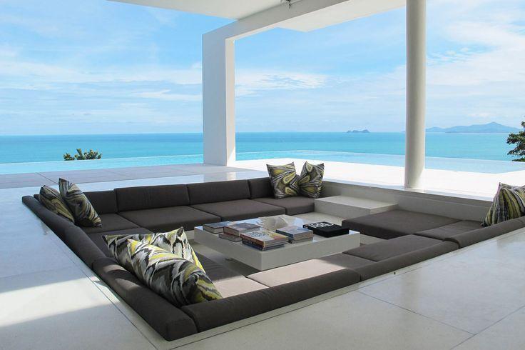 Sunken Seating Area By Pool Design Milk Modern Patio Architecture Architecture Design
