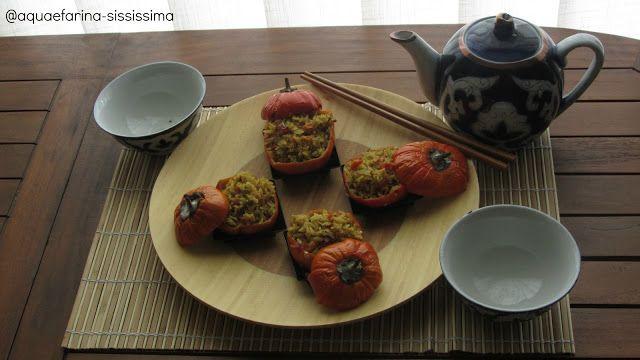 Melanzana rossa  rotonda ripiena di riso