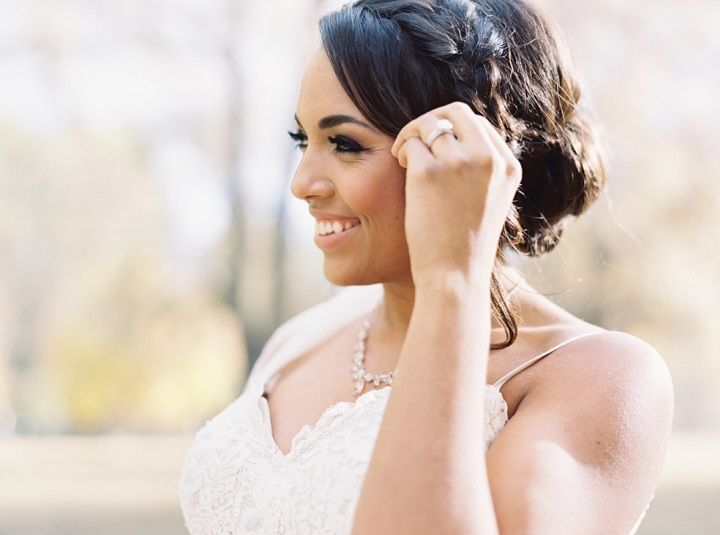 Messy braids with updo bridal hairstyle | fabmood.com #fallwedding #bridalhair #updos #wedding