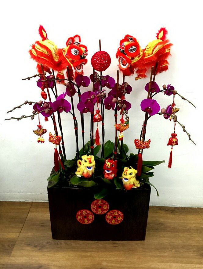 Chinese new year orchid arrangement flower pinterest New flower decoration