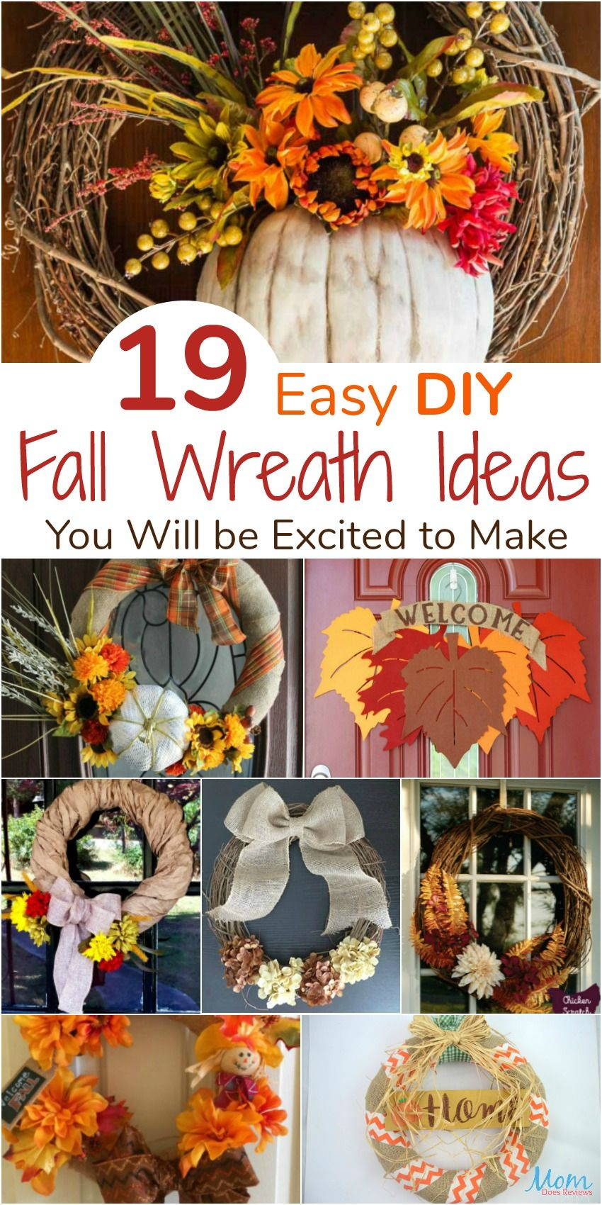 19 Easy Diy Fall Wreath Ideas You Will Be Excited To Make Craft