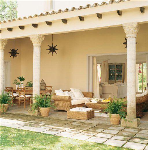 Tres porches para una casa Porches, Crear y Casas