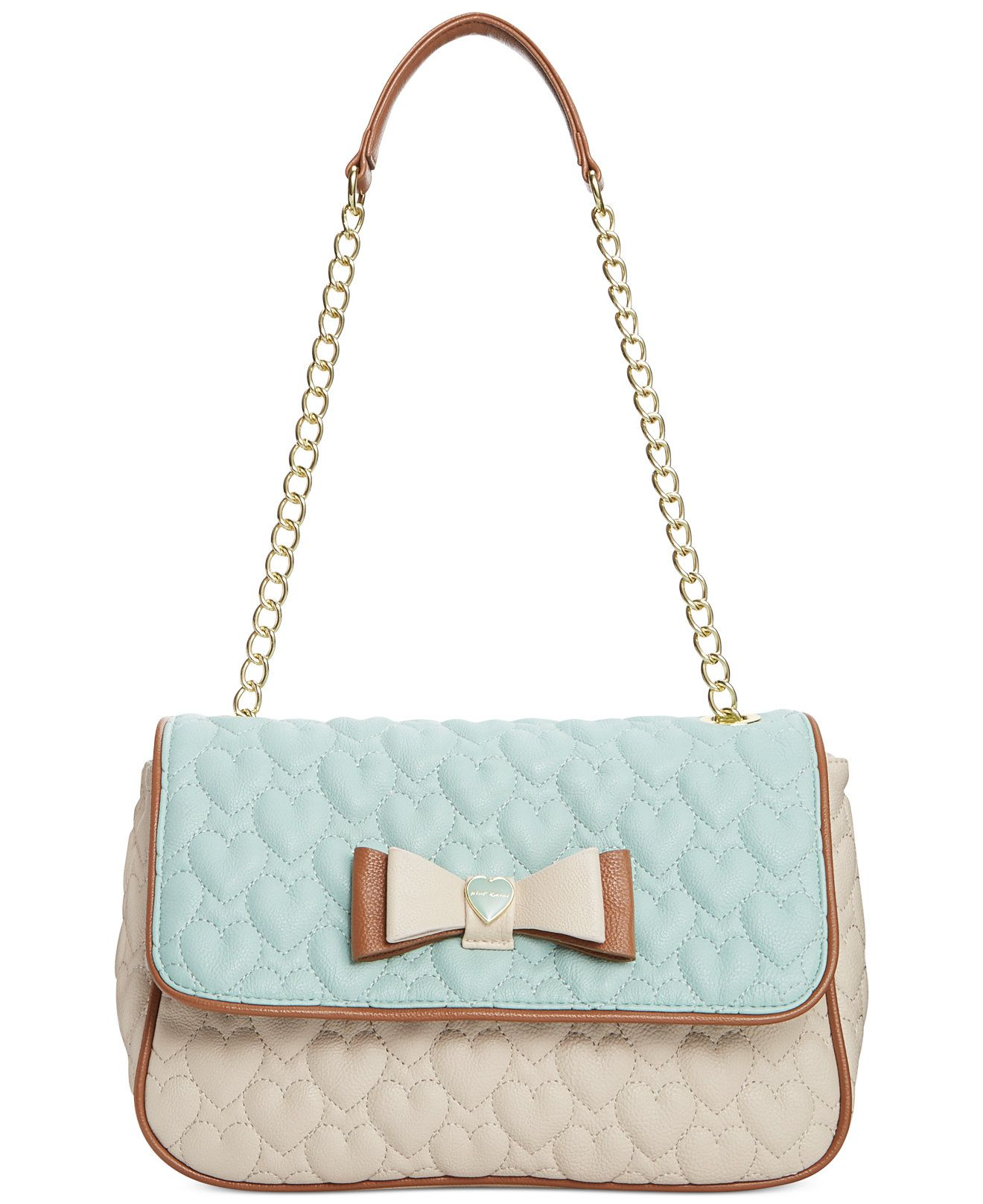 Betsey Johnson Macy's Exclusive Shoulder Bag - Shoulder Bags - Handbags & Accessories - Macy's