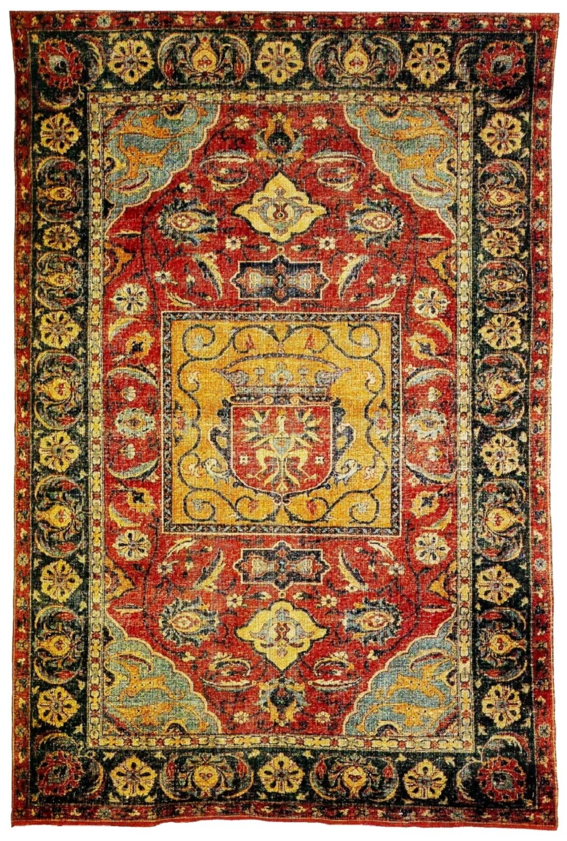 safavid kilim with the coat of arms of sigismund iii vasa polish