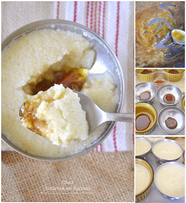 Préparation gateau semoule - Recette gâteau semoule caramel et vanille chez Kaderick