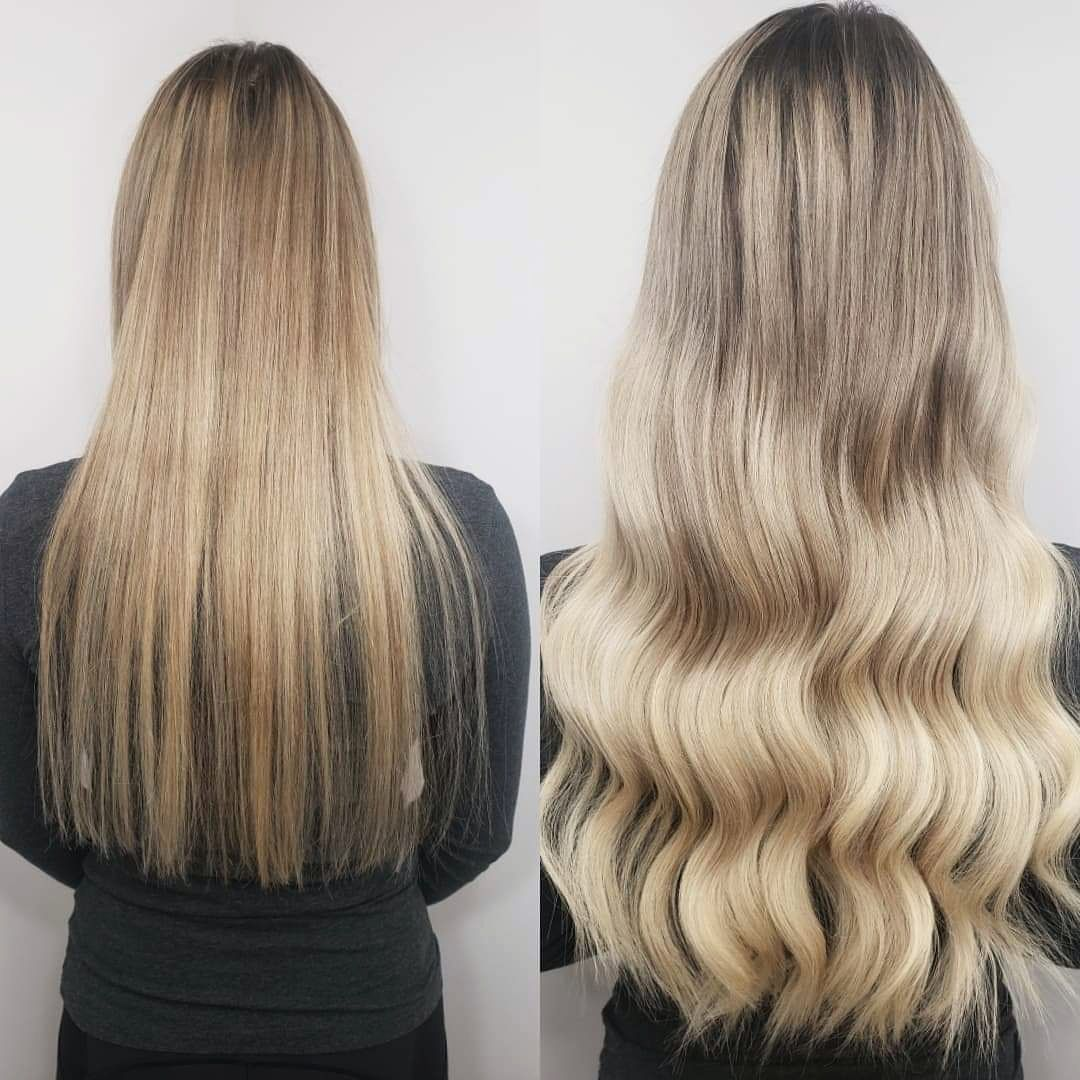 Stunning before and after using 20 inch long, premium