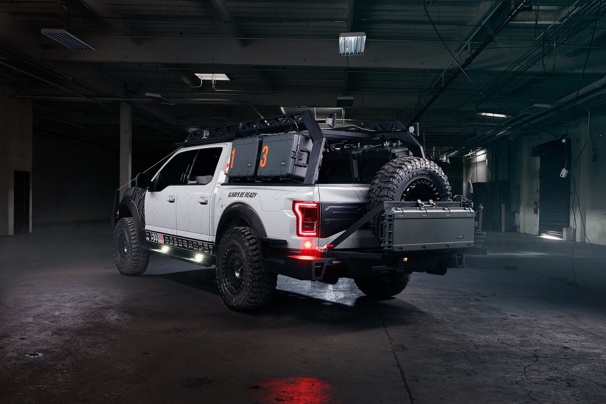 Royal Appearance Of Gray Lifted Ford Raptor With On Black Rotiform Wheels Overland Vehicles Ford Raptor Tactical Truck