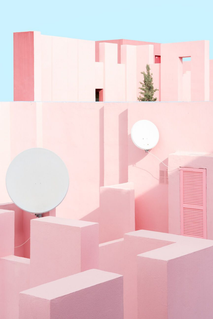 Muralla Roja Colour Architecture Pastel Pink Aesthetic Pink Aesthetic