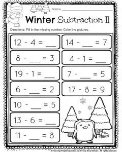 1st Grade December Math and Literacy Worksheets | 20 ...
