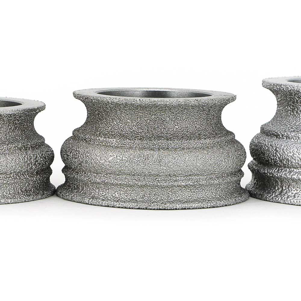 Brazing Diamond Grinding Wheel Grinding Stone For Glass Ceramics Marble Concrete Floor Begonia Semicircle Edge S Glass Ceramic Concrete Floors Artificial Stone