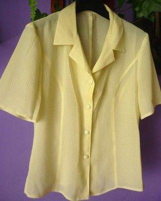 Pastelowa Zolta Kremowa Bluzka Zapinana 38 M Basic 6778871623 Oficjalne Archiwum Allegro Fashion Women S Blazer Blazer