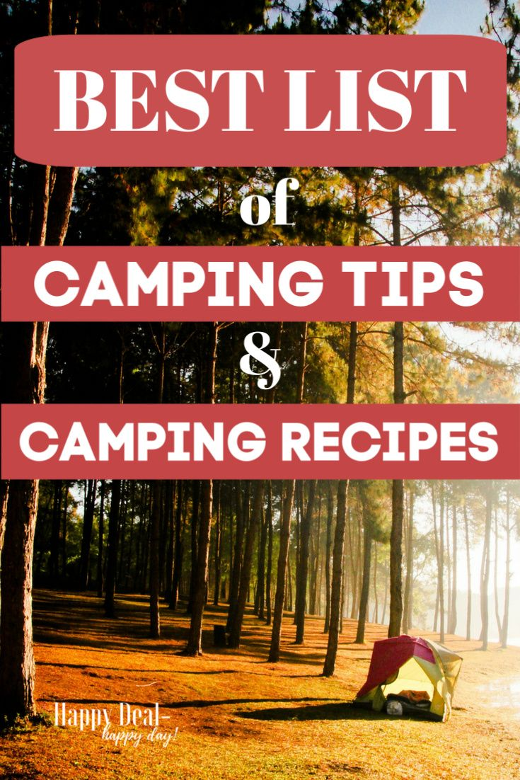 List of Top Camping Tips & Recipes   Camping meals ...