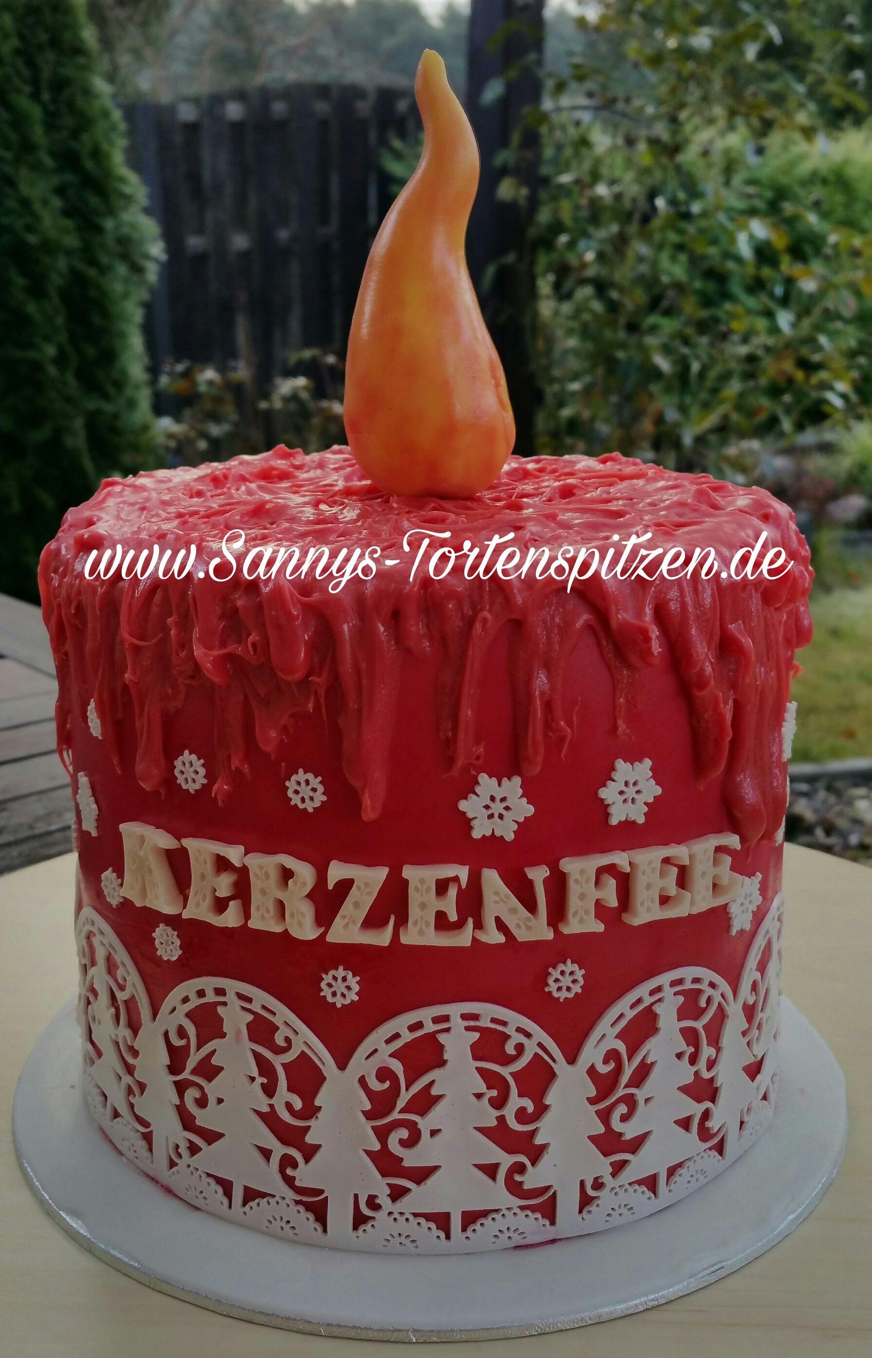 Kerzen Torte Mit Schoko Vanille Buttercreme Elegante Torten
