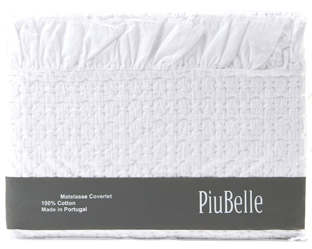 Piu Belle White Ruffle Shabby Chic Bedspread Matelasse Coverlet French Country Shabby Chic French Shabby Chic Coverlets