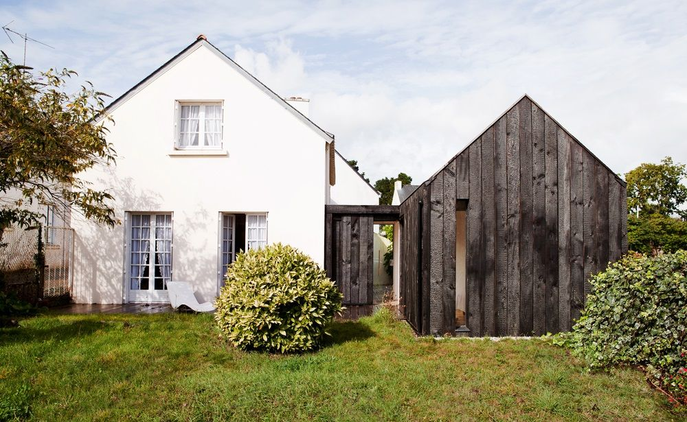 Charred Wood Siding Of Vacation Cottage In France Homesb
