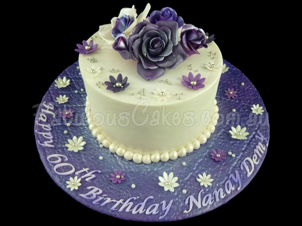 purple60thbirthdaycakeforaladyjpg 1024768 pixels