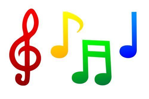 coloured single music notes - Google Search | LIR | Pinterest ...