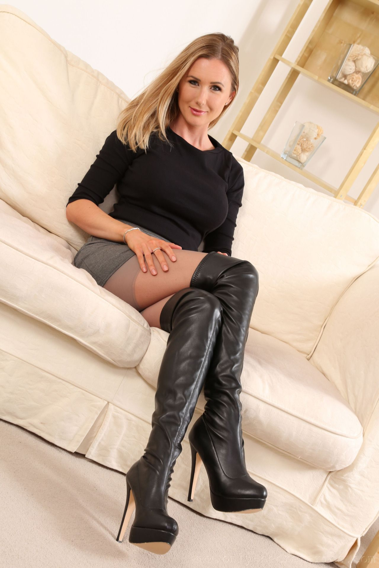 Should I be ok with my wife wearing thigh high boots out?