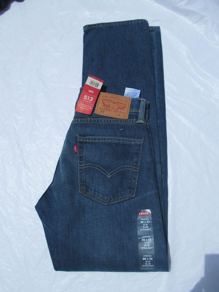 7a388a65268 Men Levis Jeans 511 Slim Straight Leg Dark Denim 085130624 Stretch New   Levis  SlimStraight