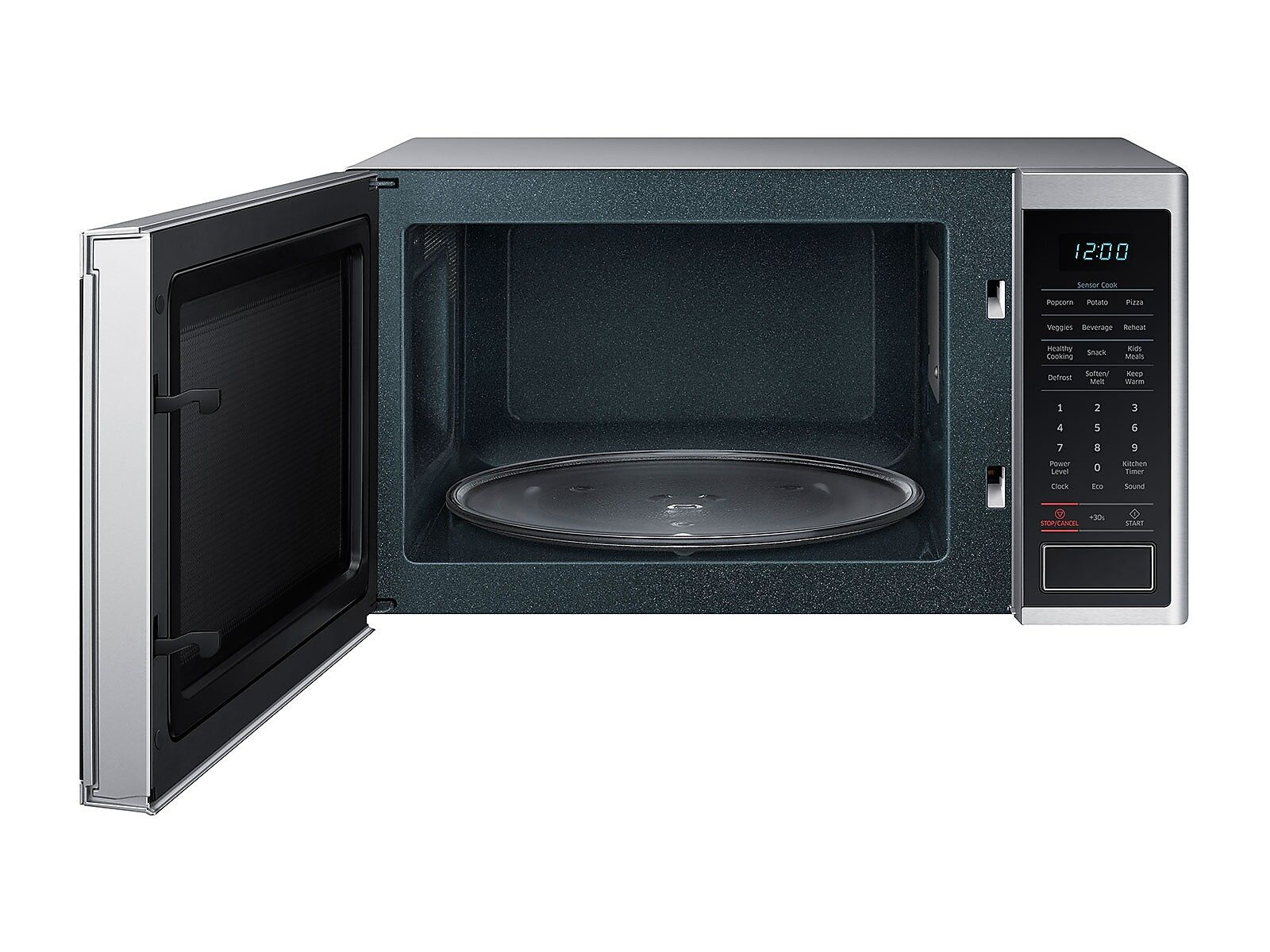 Samsung 1 4 Cu Ft Countertop Microwave With Sensor Cooking In
