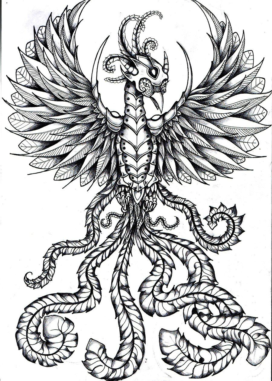 warrior phoenix bird by roxyloxy.deviantart.com on @deviantART ...