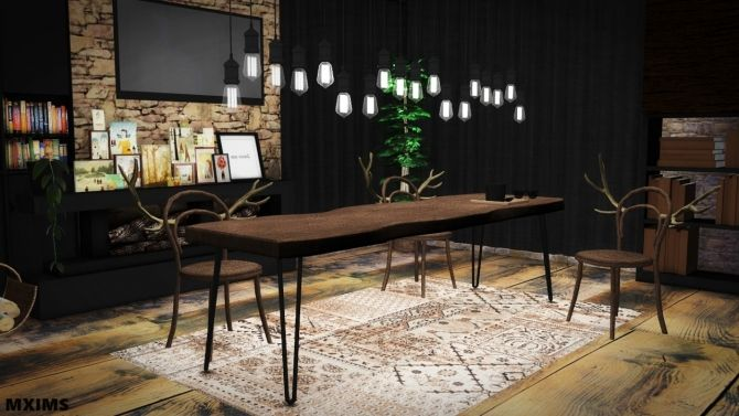 Rustic Dining Room At Mxims Via Sims 4 Updates Check More At Http Sims4updates Net Furnitu Rustic Dining Room Dining Wall Decor Rustic Farmhouse Living Room