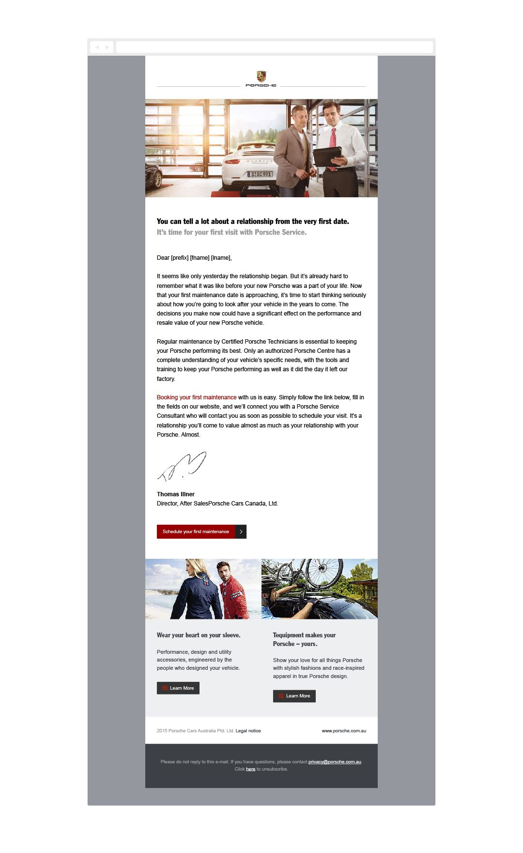 Porsche email by evolution7 | Email Template Design | Pinterest ...