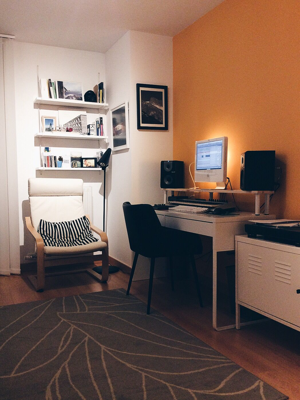 my studio reading hideout at home mostly ikea furniture micke desk rh pinterest com