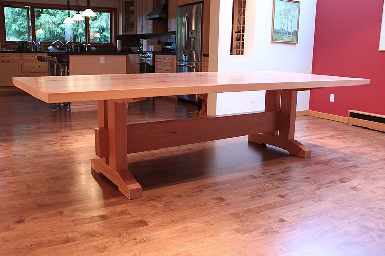 Craftsman Dining Table Craftsman Style Trestle Dining Table