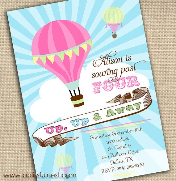 Hot air balloon party invitation printable by a blissful nest hot air balloon party invitation printable by a blissful nest 1500 via filmwisefo