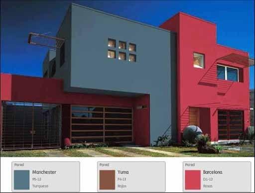 Resultado de imagen para fachadas de casa pintura for Colores para exteriores de casas pequenas