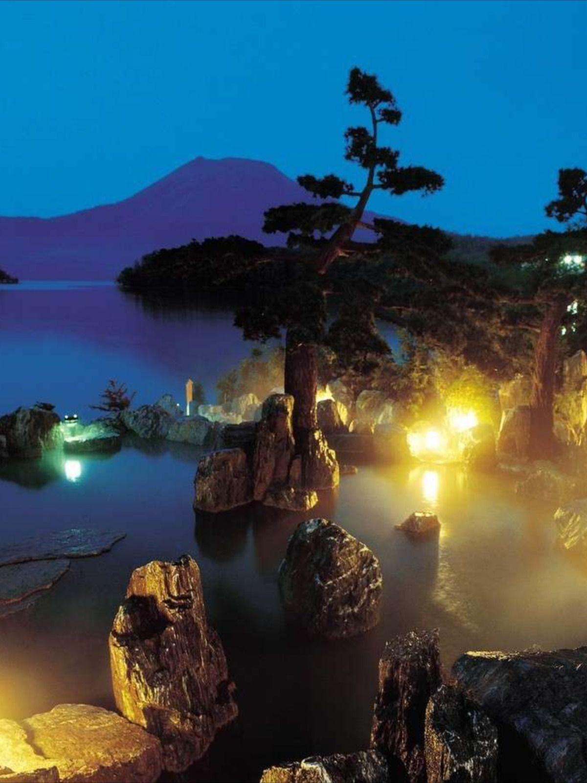 楽天トラベル あかん遊久の里鶴雅 宿泊予約 温泉 女満別 風景