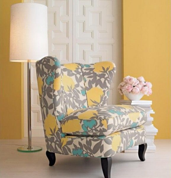 gray yellow teal chair but where is it from furniture rh pinterest com