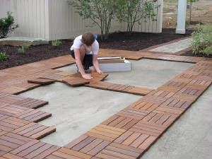 Outdoor Modular Flooring And Decking Installation Photos