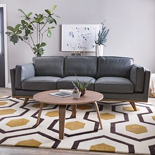 Reclining Sofa Shop for Astoria Grey Oxford Leather Sofa Get free shipping at Overstock Online FurnitureNew
