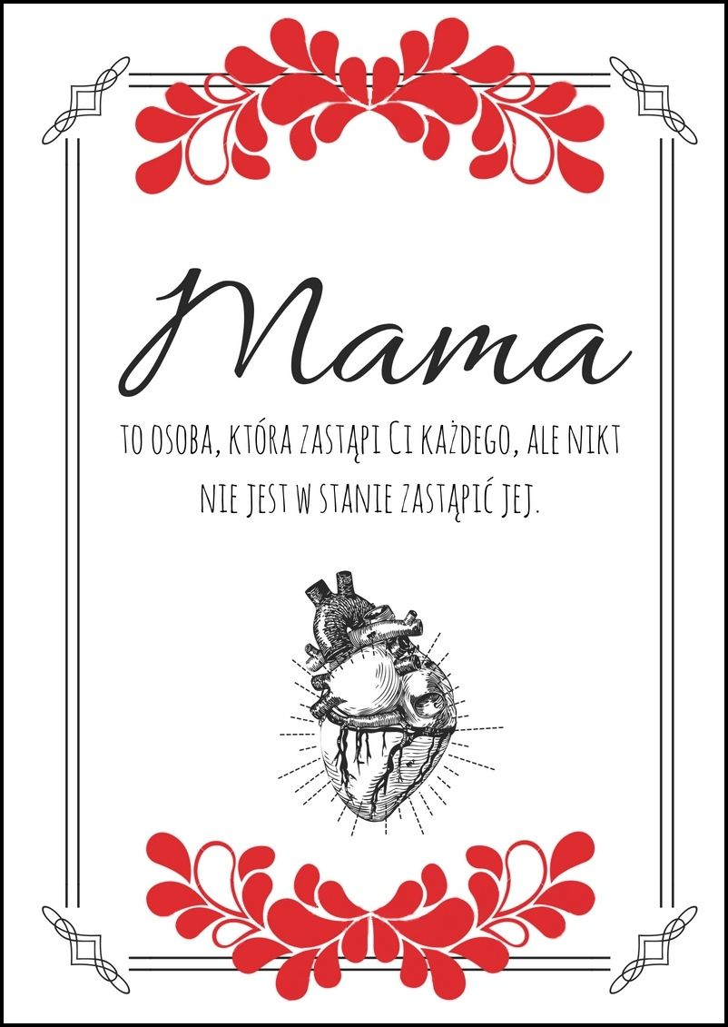 Plakat Z Okazji Dnia Matki Plakaty Dzień Matki Miri
