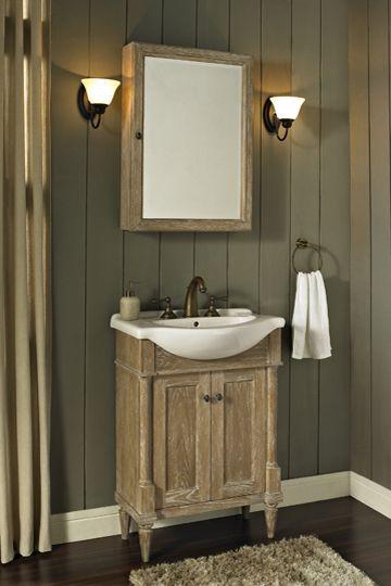 rustic chic 26x17 euro vanity weathered oak bring texture to rh pinterest com