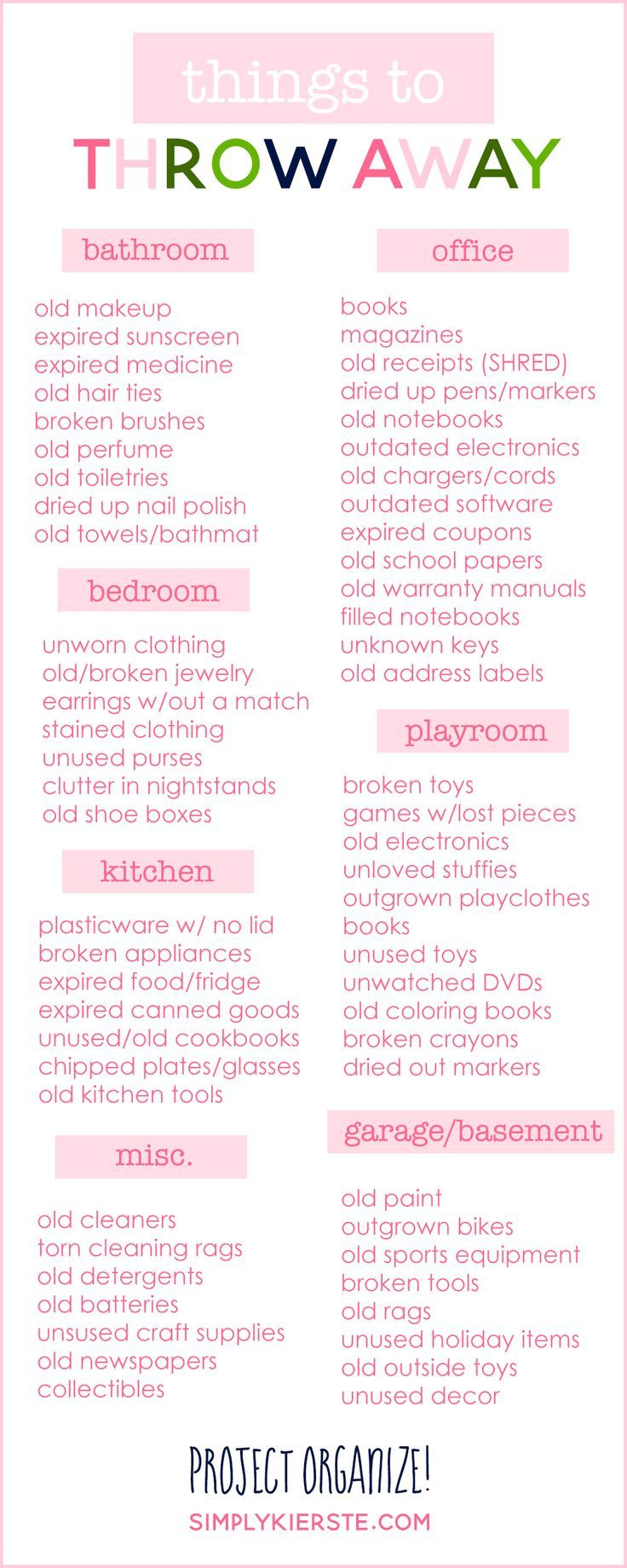 things to throw away donate or recycle get organized family rh pinterest nz