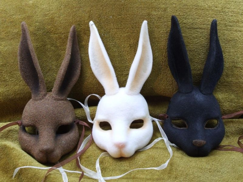 rabbit masks craft pinterest bewerbung masken und diy masken. Black Bedroom Furniture Sets. Home Design Ideas