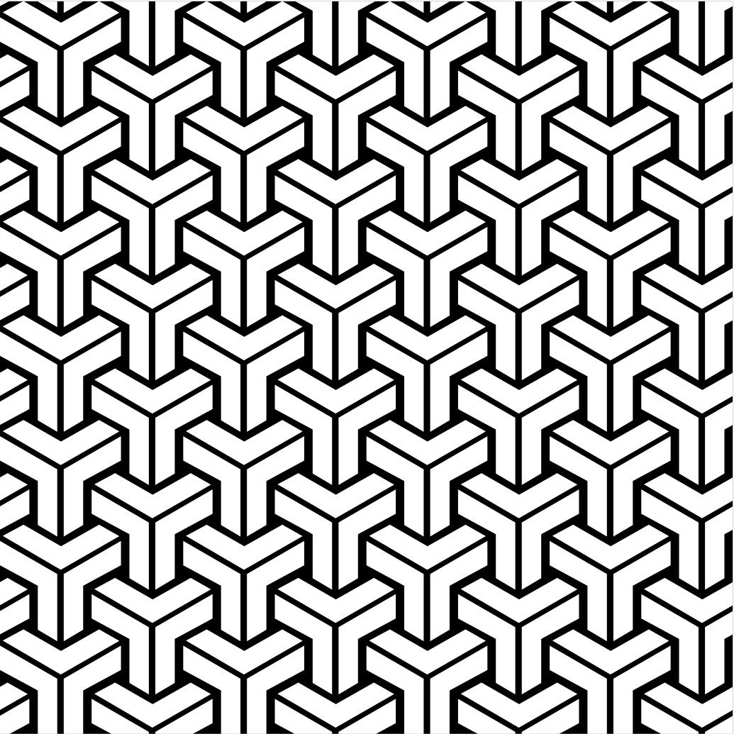 Free Vintage Coloring Book Pages | Retro Patterns Geometric Design ...