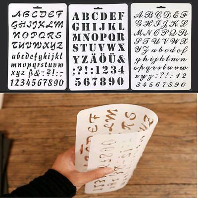 DIY Template Letter Number Layering Stencil Painting Scrapbooking - peinture pour joint silicone